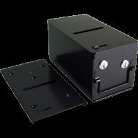 Casino drop box with locks