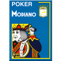 Modiano Poker Cristallo Azzurro Plastica