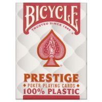 Bicycle Prestige 100% Plastic Playing Cards Red