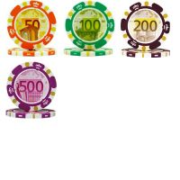Euro design poker chips