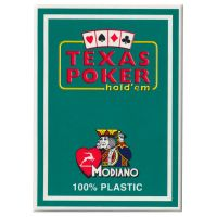 Plastic Playing Cards Modiano Texas Poker Green