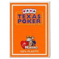 Plastic Playing Cards Modiano Texas Poker Orange