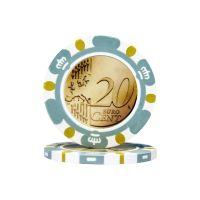 Poker chips Euro design €0.20