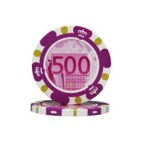 Poker chips Euro design €500