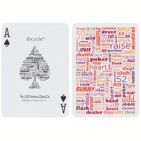 Bicycle Table Talk Playing Cards Red