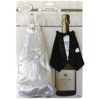 Champagne Bottle Wear Bride and Groom