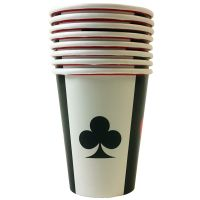Casino Cups Place Your Bets (8 Pieces)