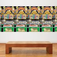 Casino Slot Machines Room Roll Party Wall Decoration