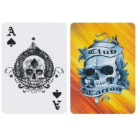 Bicycle Club Tattoo Playing Cards Orange