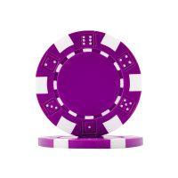 Poker chips Dice purple