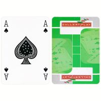 Gallery Play green playing cards