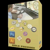 Custom poker chip designer gold package