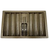 Metal Poker Chip Tray with Locking Cover