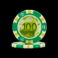 Poker chips Euro design €100