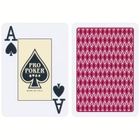 Pro Poker Plastic Playing Cards Red