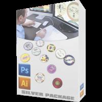 Custom poker chip designer silver package