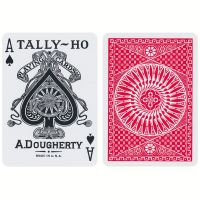 Tally-Ho Playing Cards Circle Back Red