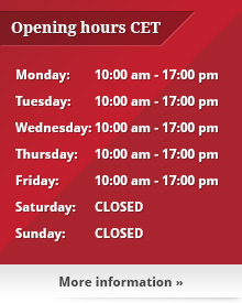 Opening Hours Poker Store CET